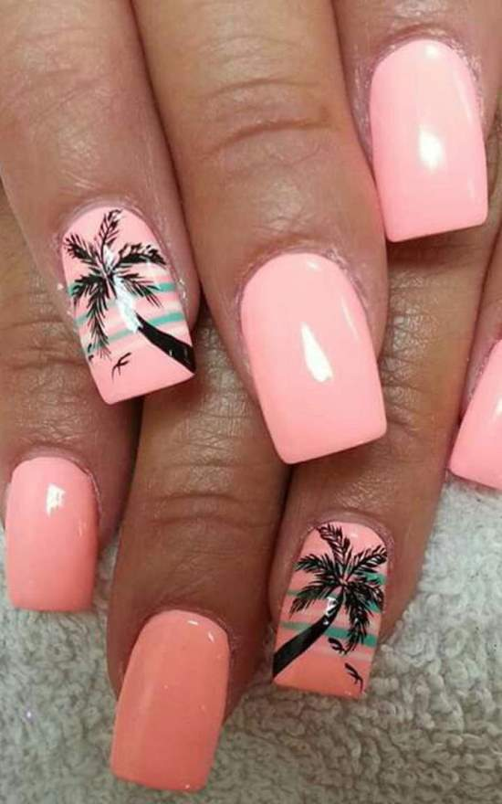 tropical nail designs 6