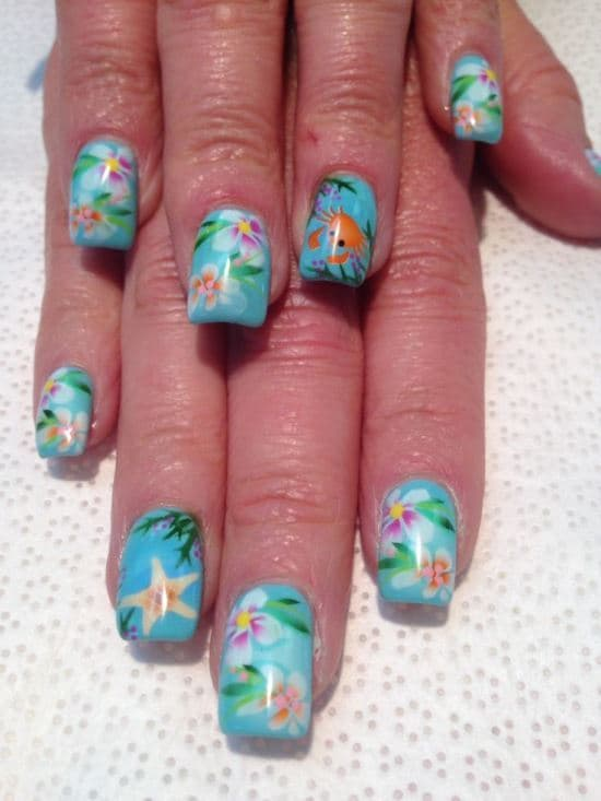 tropical nail designs 8