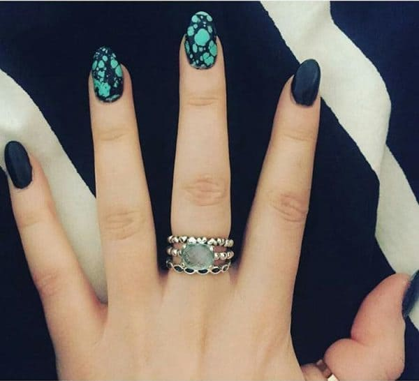 turquoise & butterfly nail designs 8