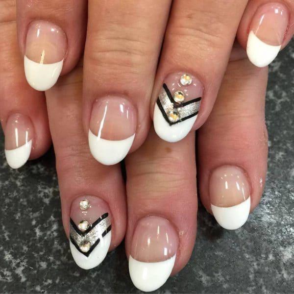 Chevron Style white nail your favorite