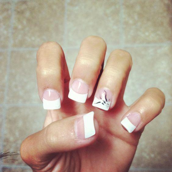 white tip nail designs 6