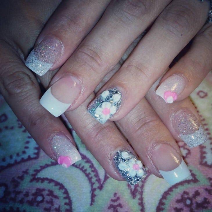 white tip nail designs 9