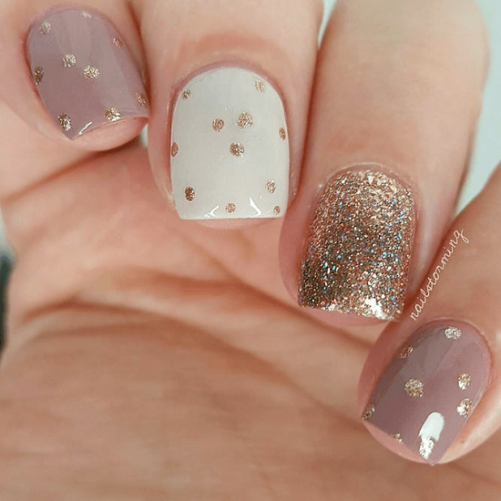 As You Can See The Glitter Touch Fit With Any Simple Nail Design And Is Best One Use For Decorating Styling Giving Life To