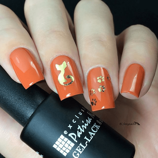 Orange isn't a nail polish color that you'd normally choose, but today nail  design have let loose of any previous rules, do's and don'ts, and any color  of ... - 25 Vibrant Orange Nail Designs To Capture All The Attention