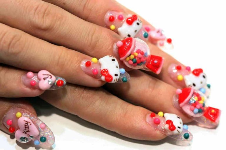 20 Hello Kitty & Claw Nail Designs – Try The Trend