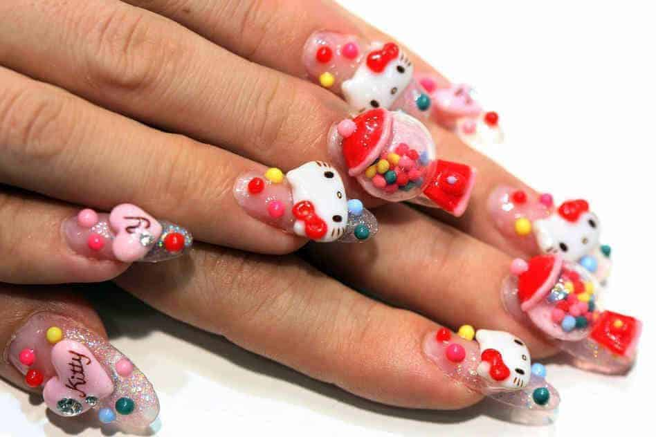 20 hello kitty claw nail designs try the trend prinsesfo Choice Image