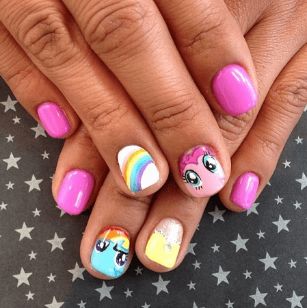 Finally, you don't have to worry anymore about how to design your little  girl's nails in a way you can please her with, these 31 kids nail designs  are here ... - 31 Nail Designs For Kids - Too Cute Not To Try [2019 Updated]