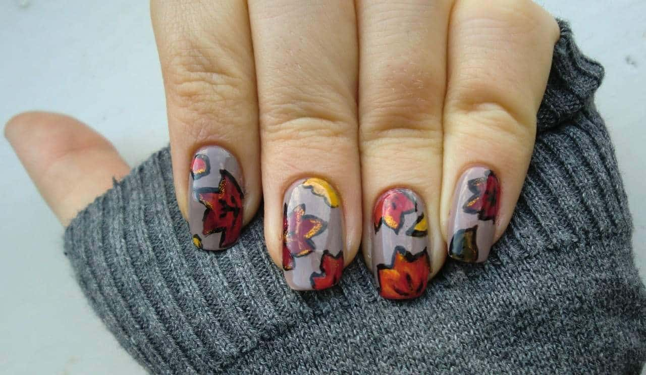 fall nail art design idea