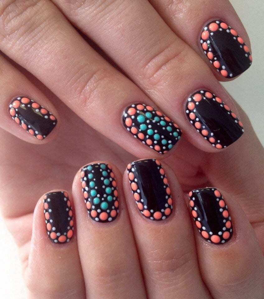 Disco Tech Black Nail Design For Fall Season