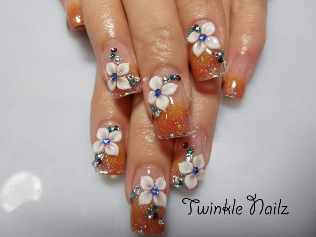 The Galaxy is represented in many colors and those colors are orange, blue,  purple, and many others. However, in this nail design, the galaxy is  represented ... - 20 Alluring Gel Nail Designs For Every Girl - NailDesignCode