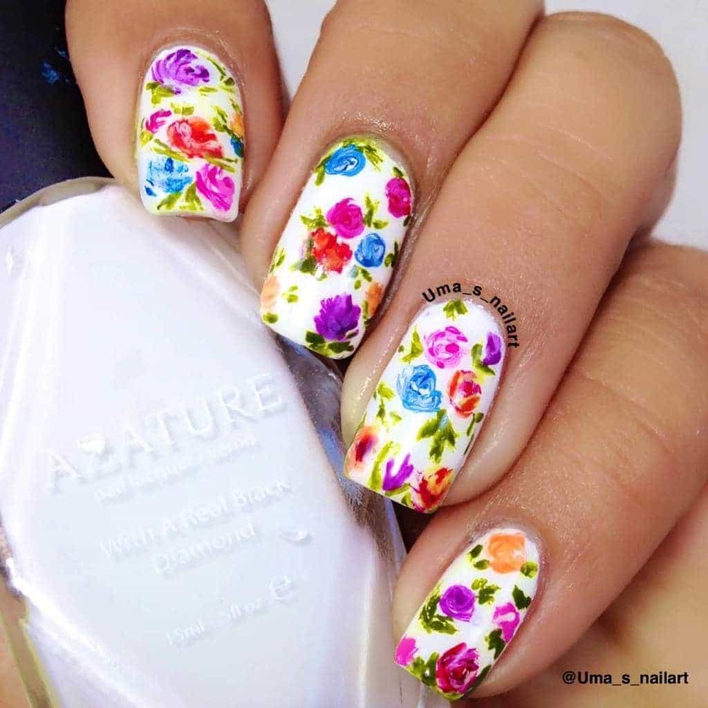 Floral Manicures For Spring And: 20 Hottest Spring Nail Designs To Celebrate The Season