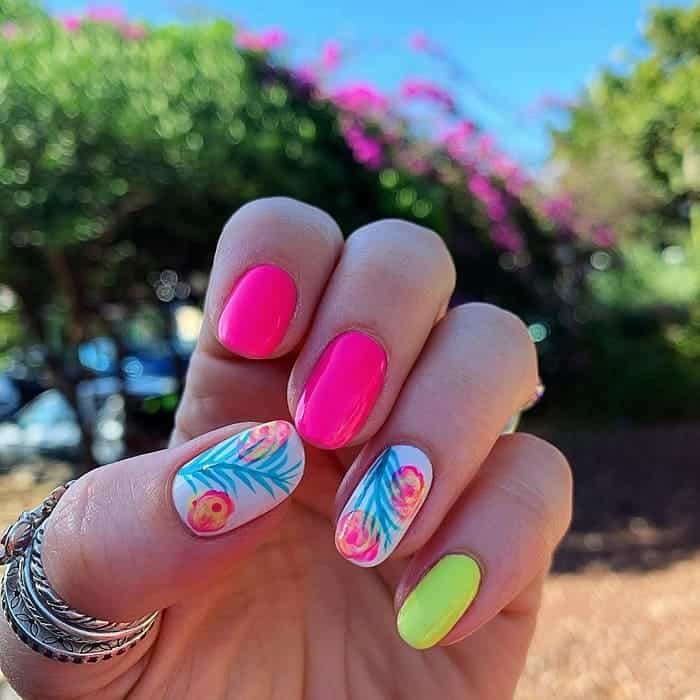 tropical gel nails