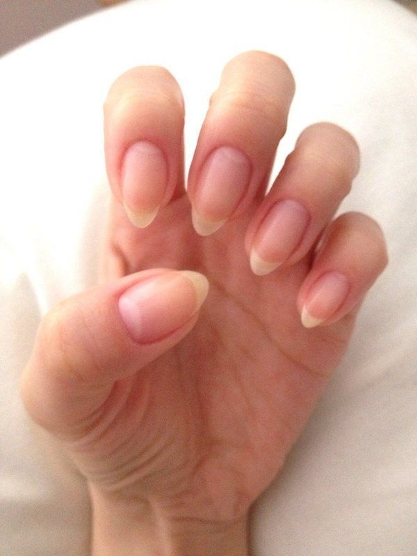 Natural pointy Nail design