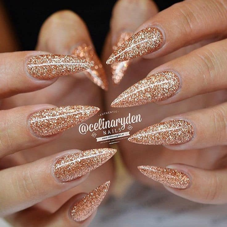 10 Shine And Sparkle Pointed Nail