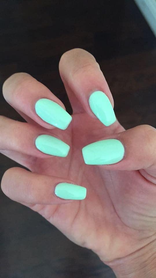 Neon fake nail idea