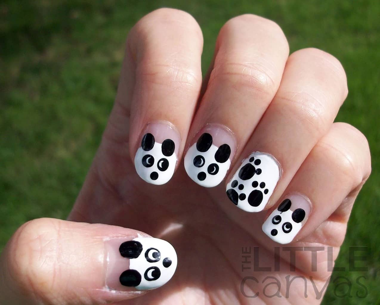 This panda nail design is the best example of a DIY method. They look so  cute even when they are natural, and you will appreciate them more since  you've ... - Panda Nail Designs: 21 Cutest Ideas For 2018 – NailDesignCode