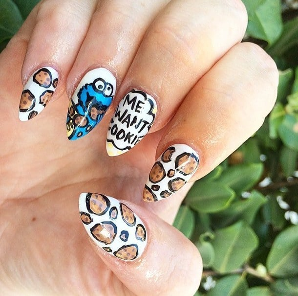 We've all watched this show at least once in our lives. Dope nail designs  would be incomplete if there wasn't more of these food creations. - 20 Epic Dope Nail Designs For Trendy Women – NailDesignCode