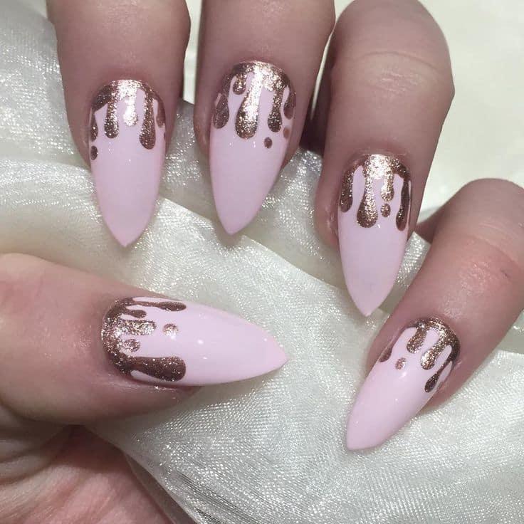 Paint Drip Nail Design