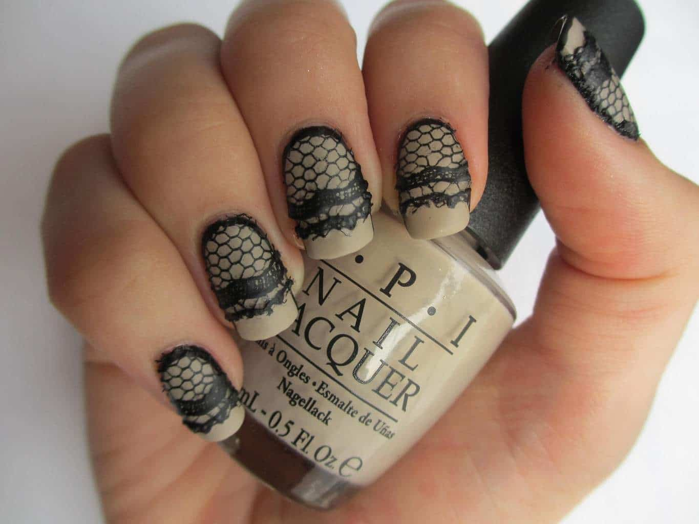 Thicker Lace nail design