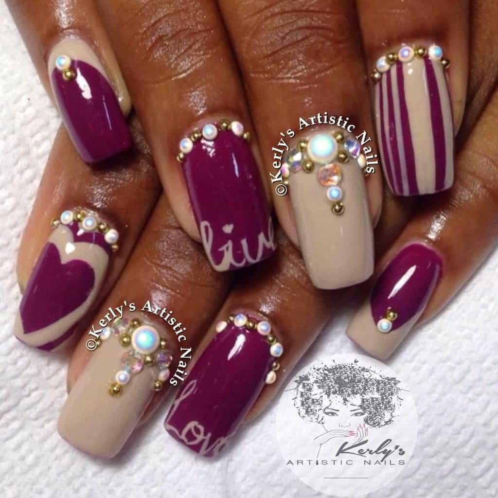 Bling nails 2017 best nails 2018 20 aristocratic bling nail designs for 2017 naildesigncode prinsesfo Gallery