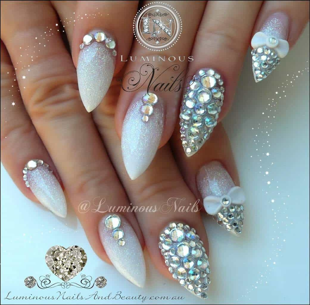20 Aristocratic Bling Nail Designs for 2018 – NailDesignCode