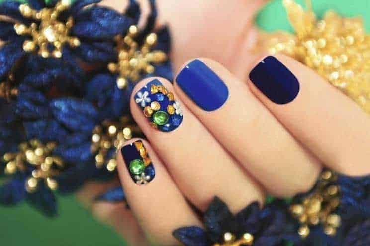 30 Nail Designs with Rhinestones to Spice Up Your Beauty