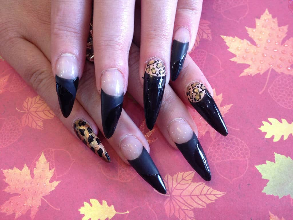 Leopard Nail art for women