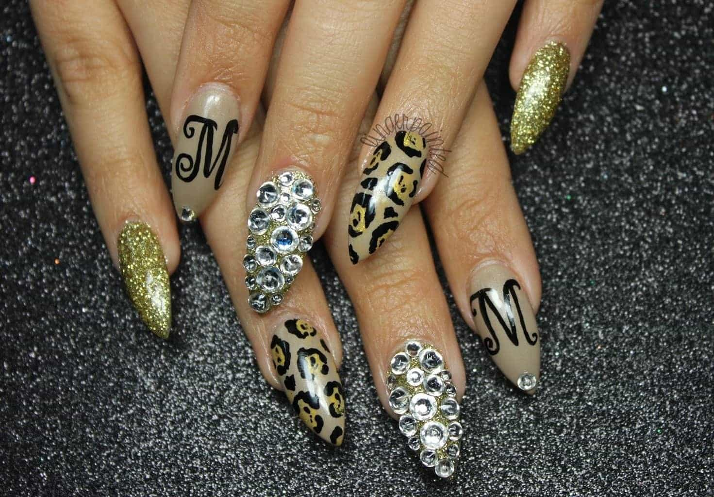 Cheetah and Leopard Nail Designs