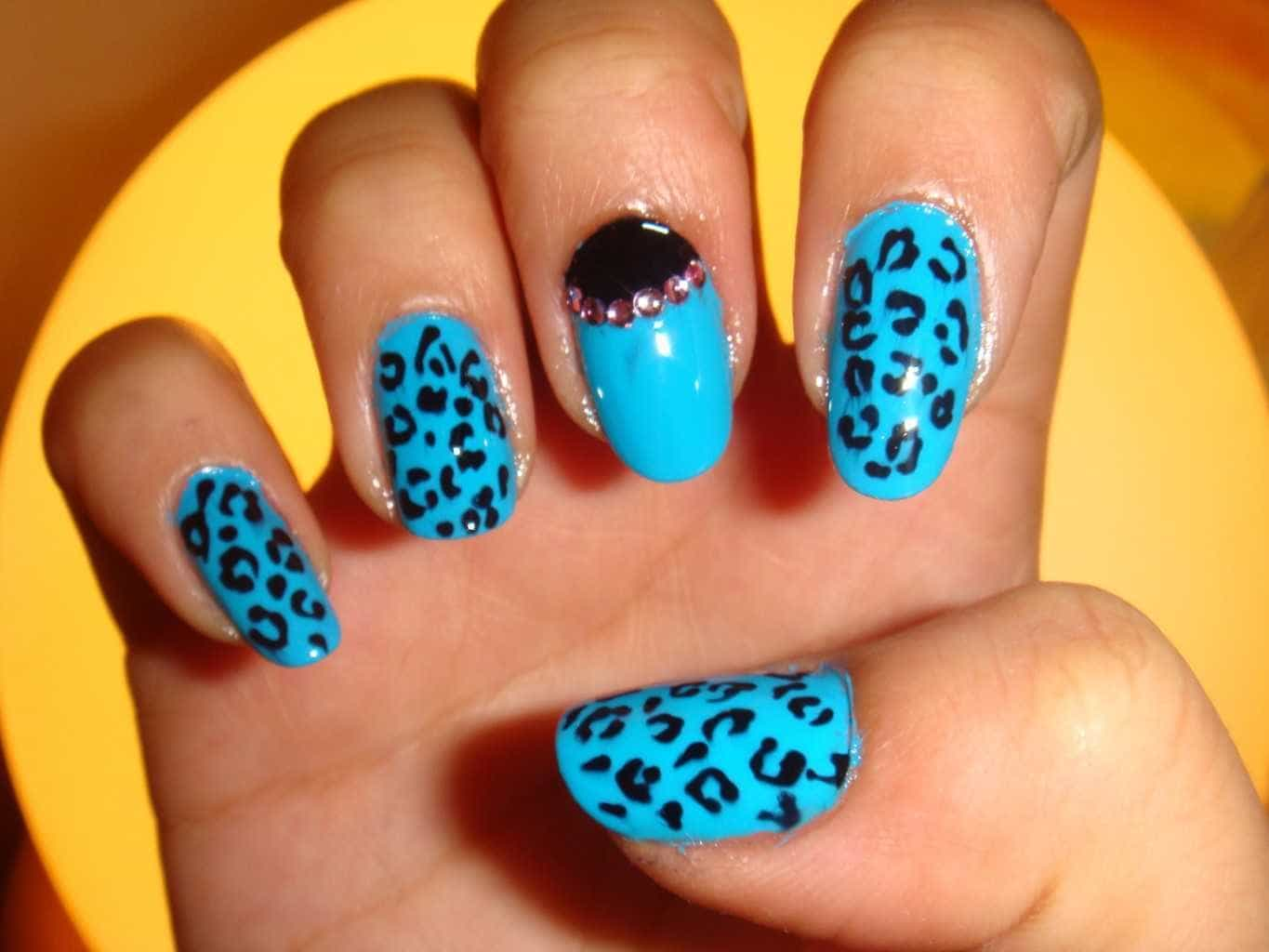 blueLeopard Nail Design for women