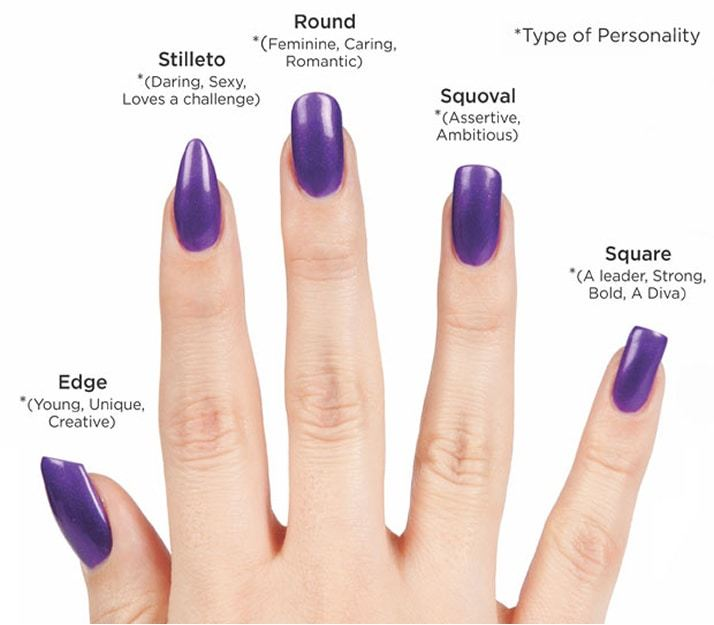 different nail shapes - Top 30 Squoval Nail Designs To Redefine Your Personality
