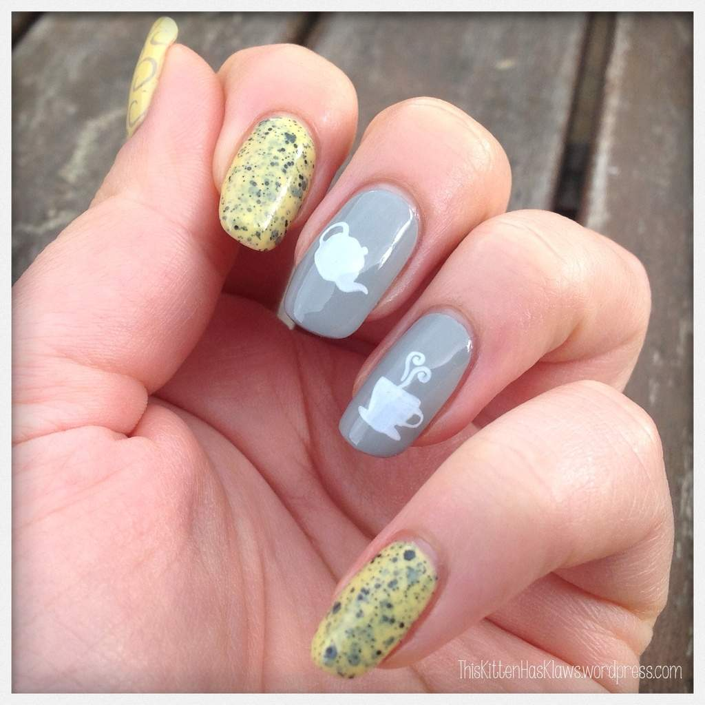 Squoval Shaped Nail design