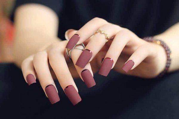 beautiful fake nail design