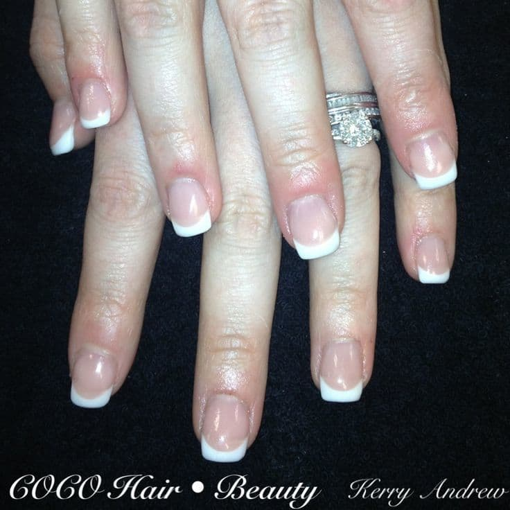 French manicured squoval nails