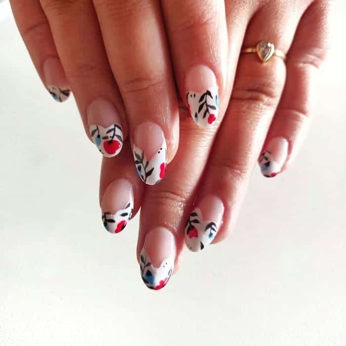 Acrylic White Tip Nails
