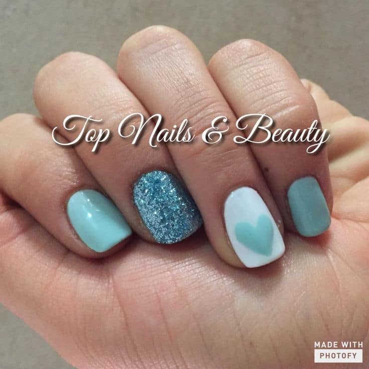 Modern Tiffany Blue Nail Idea - 20 Posh Tiffany Blue Nail Polish Designs – NailDesignCode