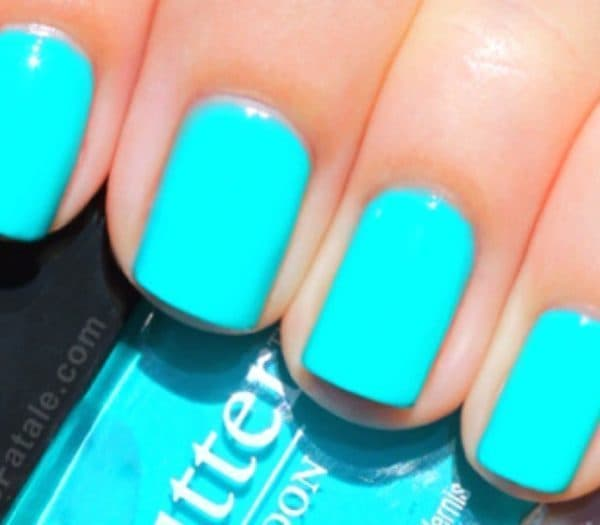Beautiful Tiffany Blue Nail Design - 20 Posh Tiffany Blue Nail Polish Designs – NailDesignCode