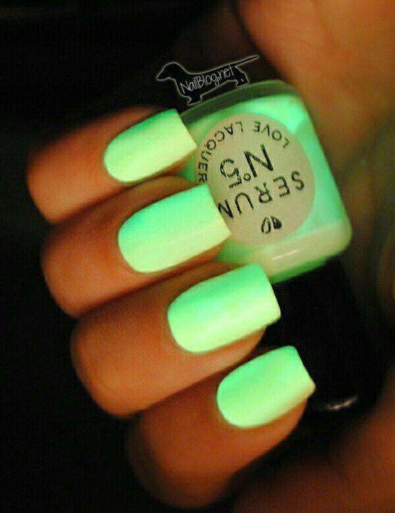 Neon nexgen nail idea for girl