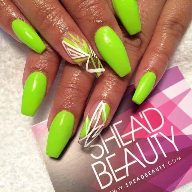 20 Soothing Lime Green Nail Designs to Die for – NailDesignCode