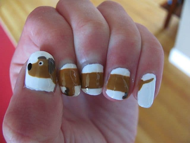 Long different dog nail design for girl