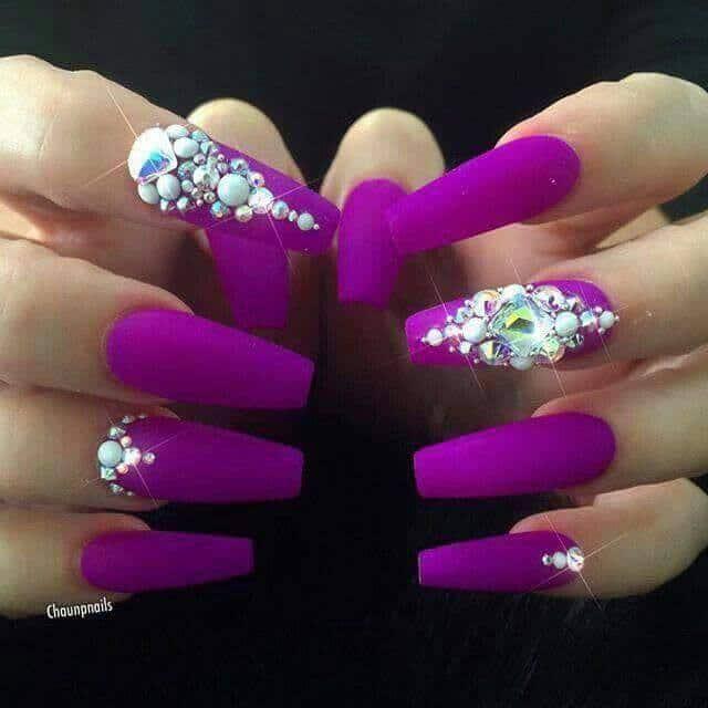 Neon Purple nexgen nail art