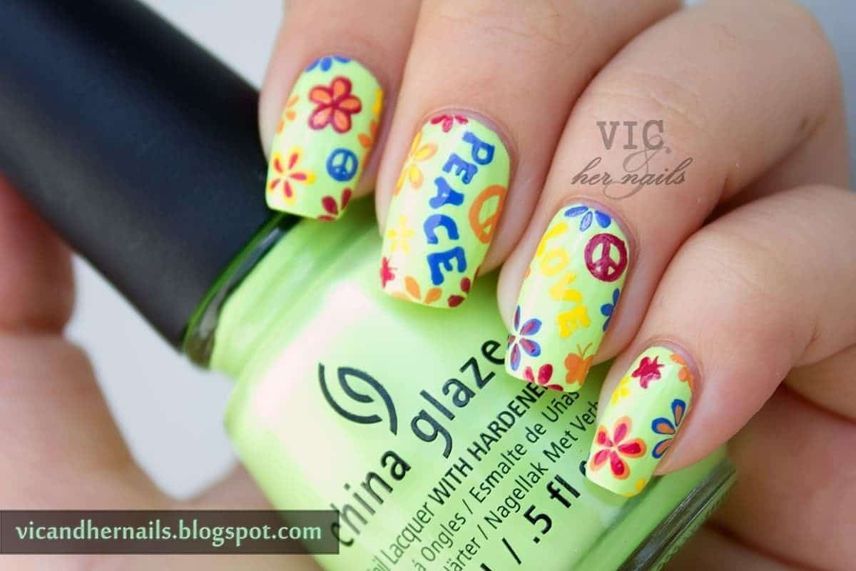 Hippie place Nail Design for girl
