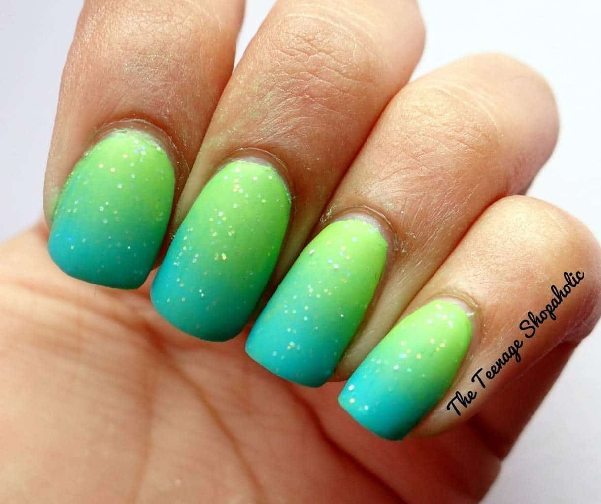 Awesome Light Green Nails Image - Nail Art Ideas - morihati.com