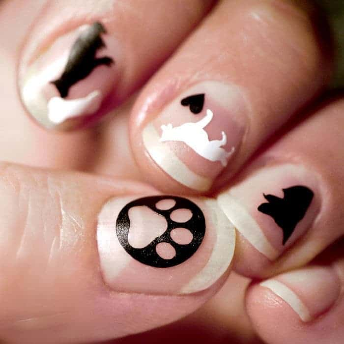 Puppy dog nail idea for girl