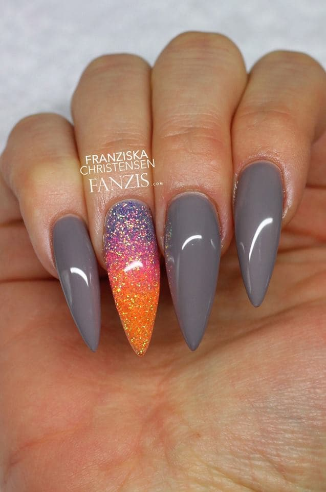 20 ravishing nexgen nails to upscale your style naildesigncode could mr gray function without ms gray i think not thats why we have a partner for him these long nexgen nail designs with a bit of shine and color prinsesfo Image collections