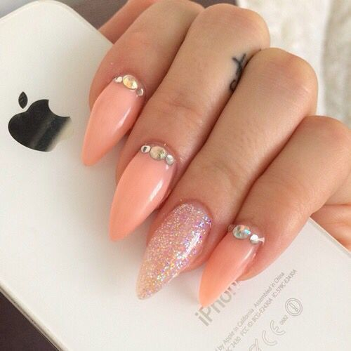 This Peach Is The Sharpest Out Of All Them Acrylic Nail Design Needed An Iphone In Order To Make A Full Ger Picture