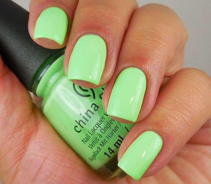 lime green Nail paints