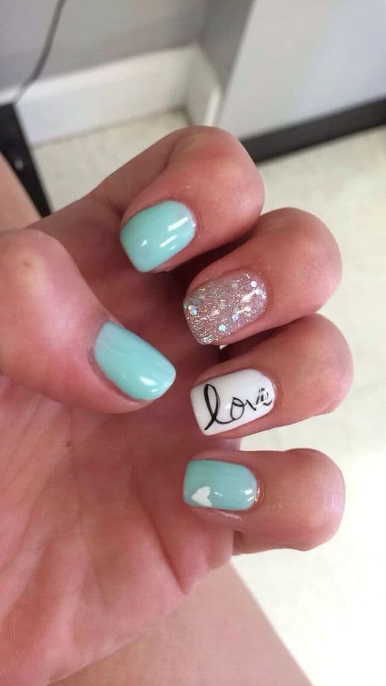 Shimmer Tiffany Nails