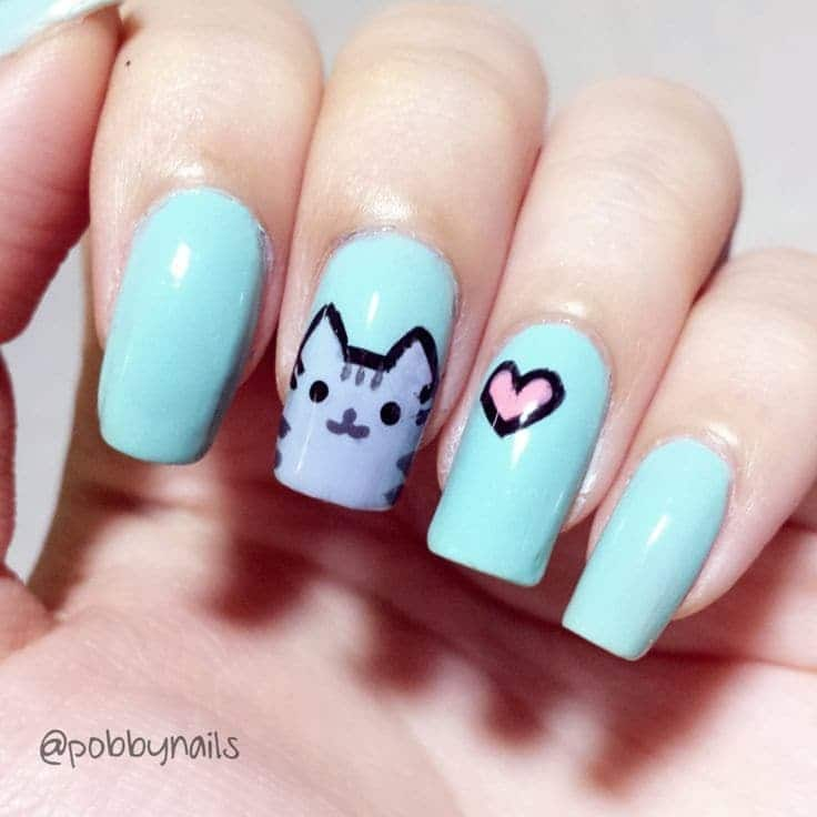 Cat Lover Favorite Animal Print Nail