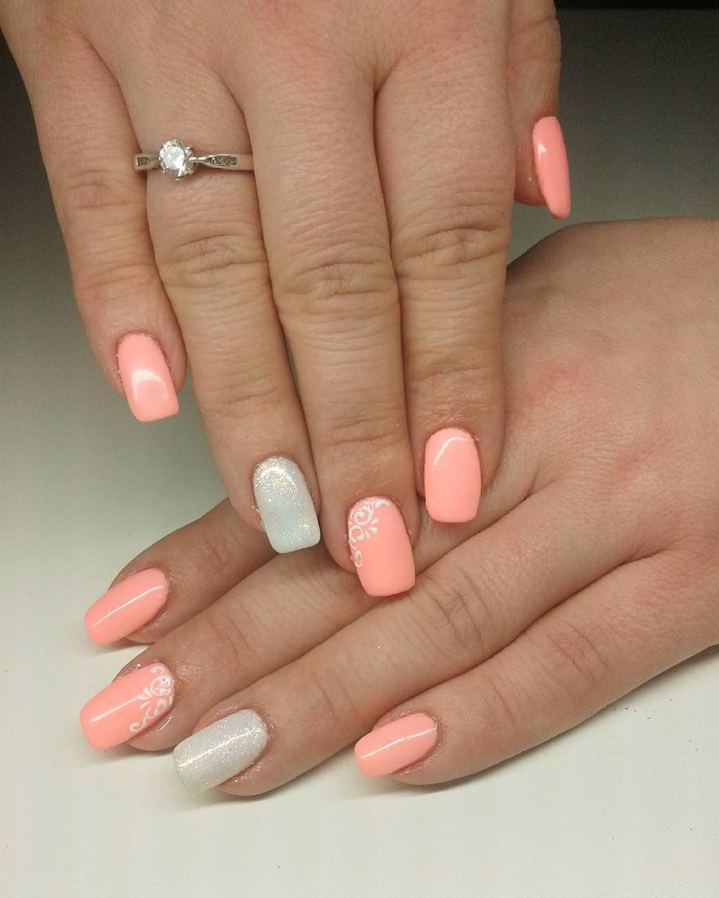 Classy Peach Nail Designs - 20 Stylish Peach Nail Designs For Christmas Eve – NailDesignCode