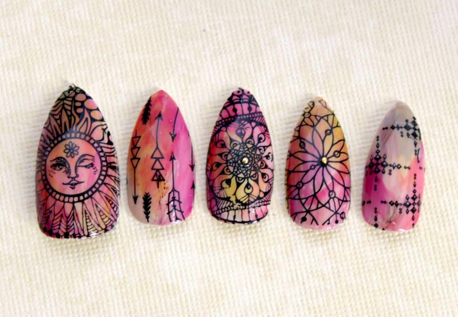Hippie Nail Design